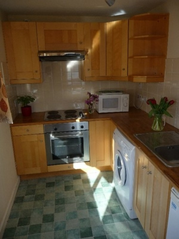 The kitchen equipment includes electric hob and oven, microwave, fridge and all necessary culinary equipment. There is also a washing machine.