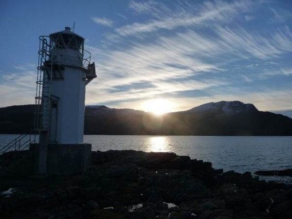 Rhue Lighthouse Sunset