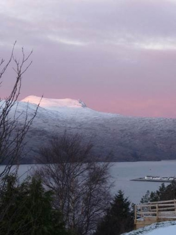 Winter view from Dolphin looking towards Ullapool